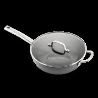 Murray keramische wokpan met deksel 32 CM - RVS greep