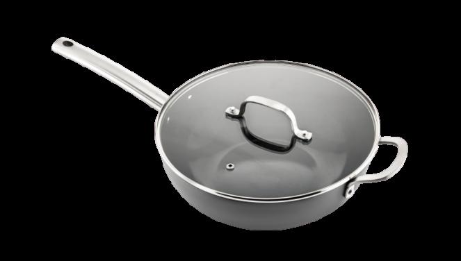 Murray keramische wokpan met deksel 36 CM