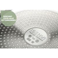 Victoria Forged Combideal - keramische hapjespan en wokpan met deksel  - RVS grepen
