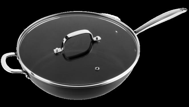 Victoria Forged keramische wok met deksel 32 CM