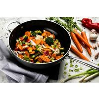 Victoria Forged combideal: Twee keramische koekenpannen en wok- RVS grepen