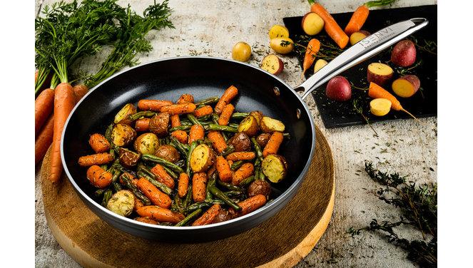 Victoria Forged Chef Cuisine Pannenset - RVS grepen