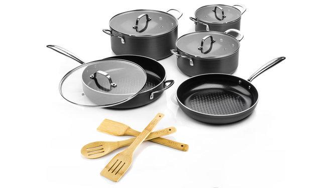 Victoria Forged Kitchen Pro pannenset