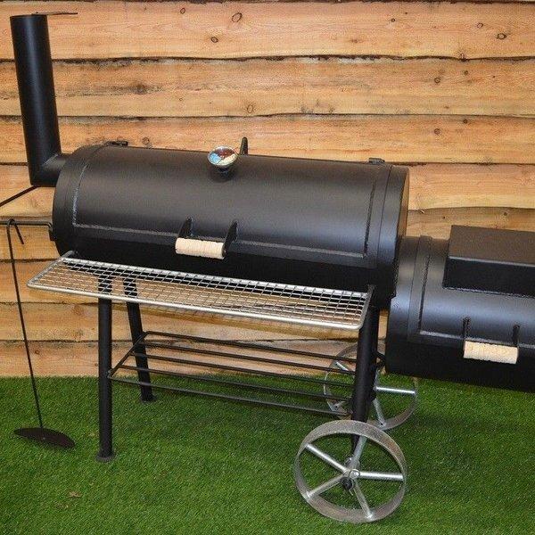 Offset bbq smoker 16inch 6mm zwart