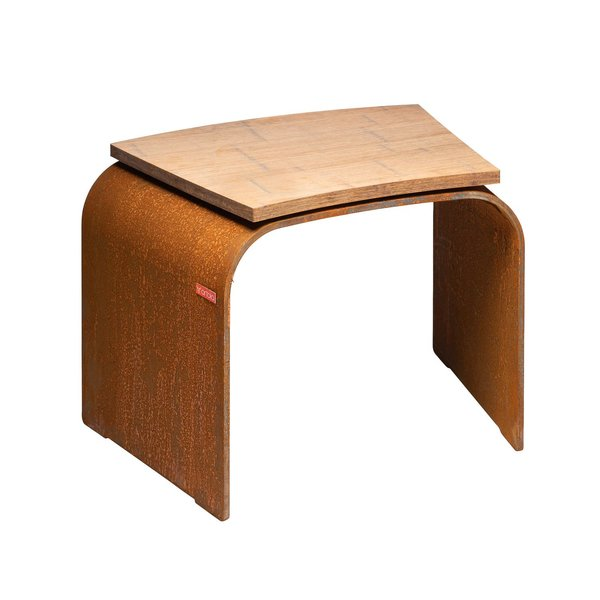 Artola Seat curve wood Corten