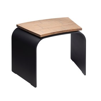 Artola Seat curve wood Corten  colour