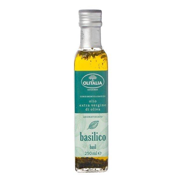 Olitalia Olijfolie met basilicum extra vierge 250 ml