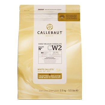 Callebaut Finest Belgian chocolate Witte chocolade callets cw2