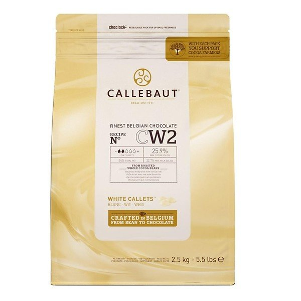 Callebaut Finest Belgian chocolate Witte chocolade callets cw2