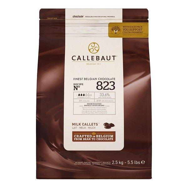 Callebaut Finest Belgian chocolate Melk chocolade callets 823