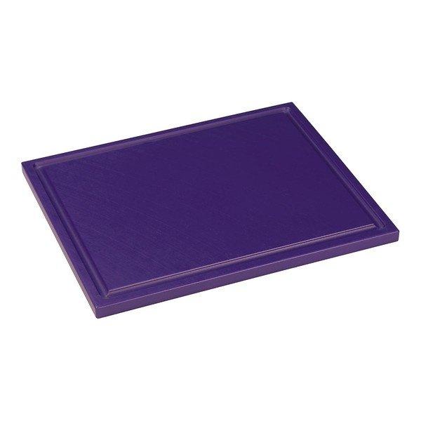 Snijplank met sapgeul paars, 325 x 265 x 15 mm
