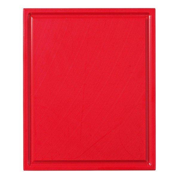 Snijplank met sapgeul, 1/2 GN rood, 325 x 265 x 15 mm