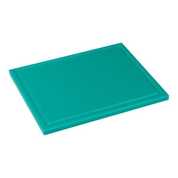 Snijplank met sapgeul, 1/2 GN groen, 325 x 265 x 15 mm