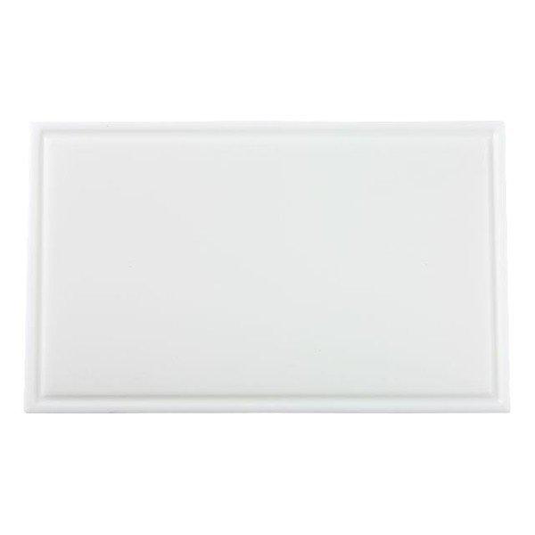 Snijplank met sapgeul wit, 530 x 325 x 15 mm