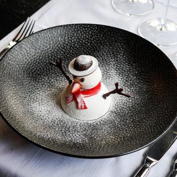 Sneeuwpop dessert