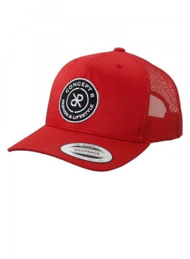 Concept R - Retro Trucker Logo Cap Red
