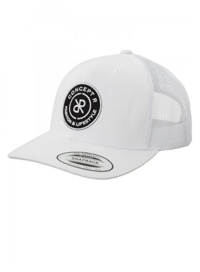 Concept R - Retro Trucker Logo Cap White