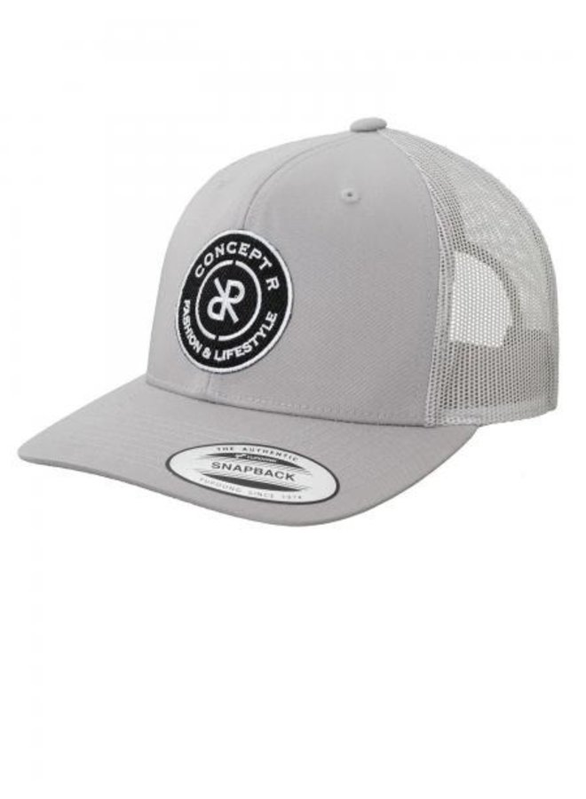 Concept R - Retro Trucker Logo Cap Grey White