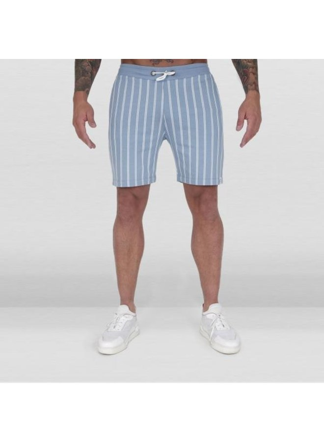 Ab Lifestyle - Striped Jogging Pants Baby Blue