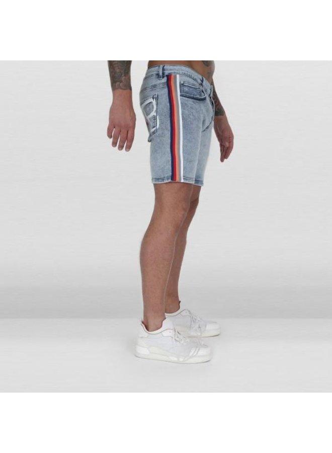 Ab Lifestyle - Ab Short Denim Jeans Stripe Vintage Blue