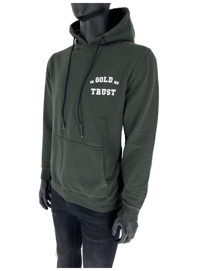 In Gold We Trust - Basic Hoodie Kombu Green