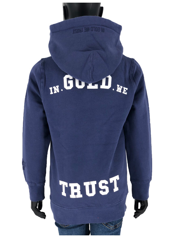 In Gold We Trust KIDS - Basic Hoodie Washed Eclipse