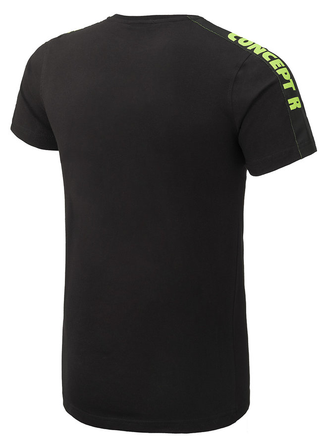 Concept R - Brand Taped Shirt Black Fluor