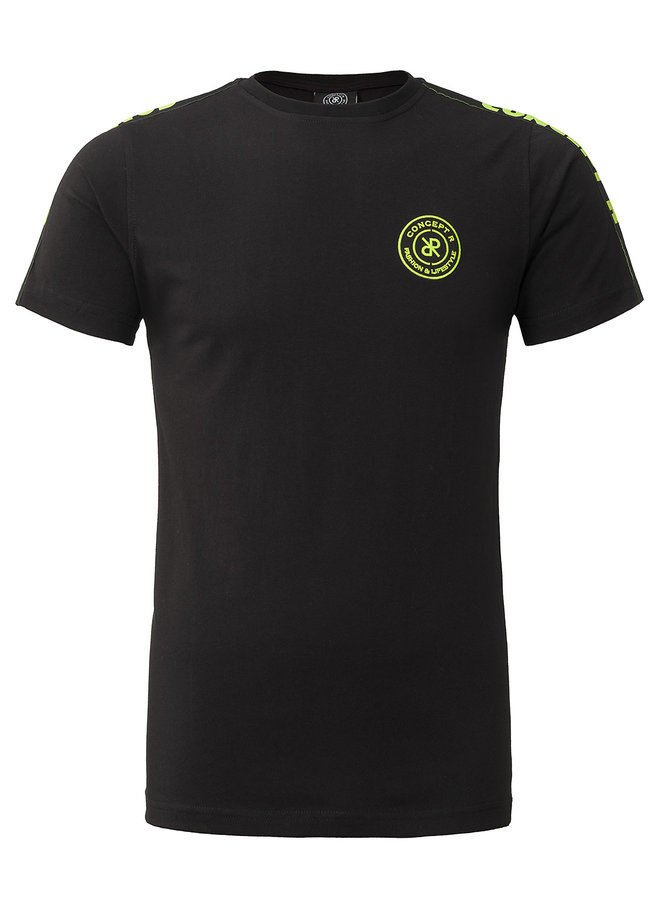Concert R KIDS - Brand Taped Shirt Black Fluor