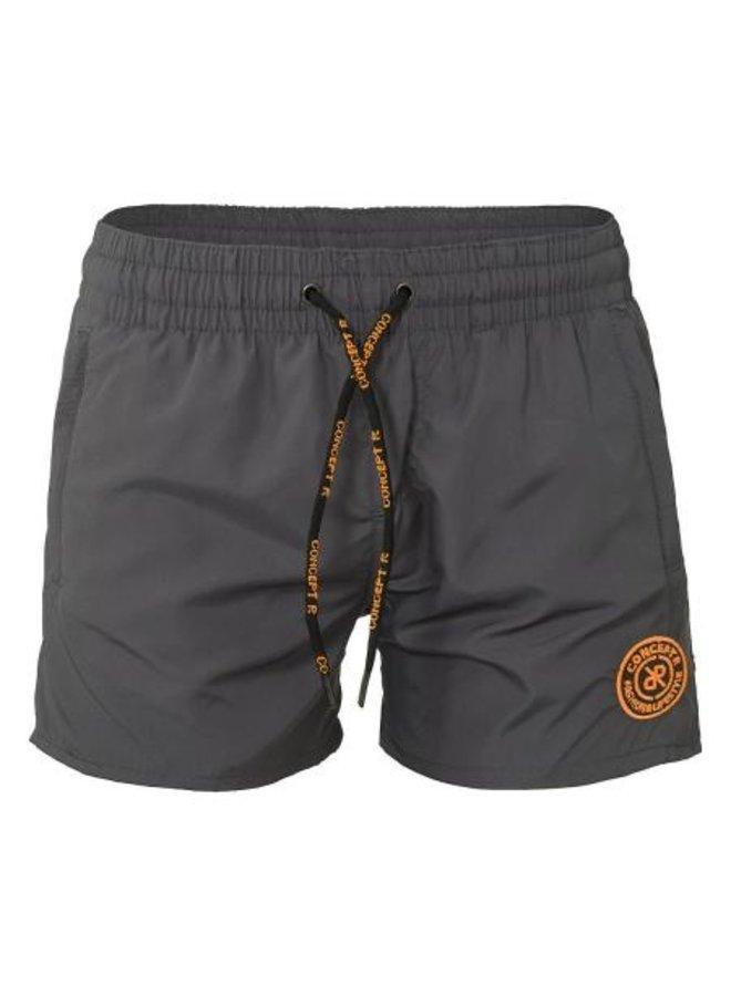 Concept R - Logo Swimshort Grey Orange