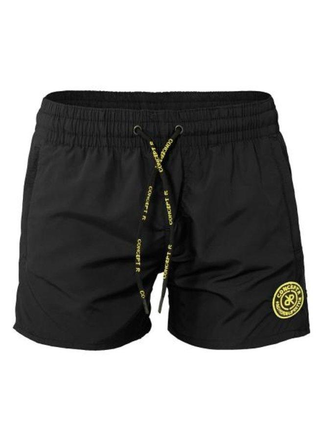 Concept R KIDS - Logo Swimshort Black Fluor