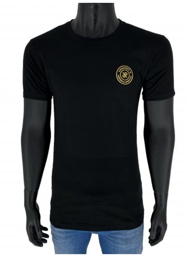 Concept R Brand T-Shirt Black/Gold