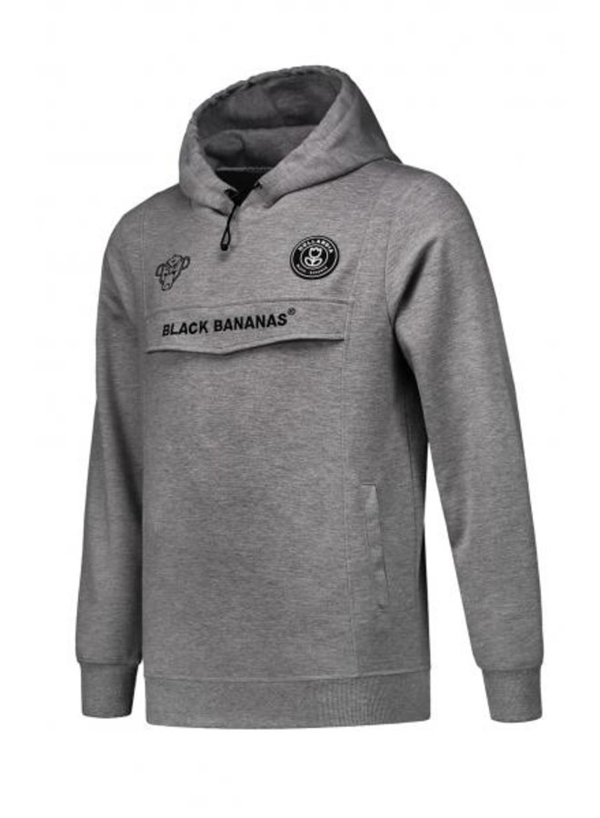 Black Bananas - The F.C. Anorak Hoody Fleece Grey