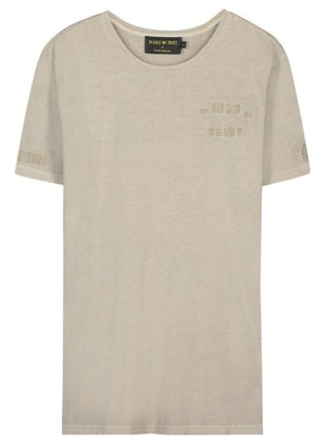 In Gold We Trust - Kids Basic Tee Feather Grey