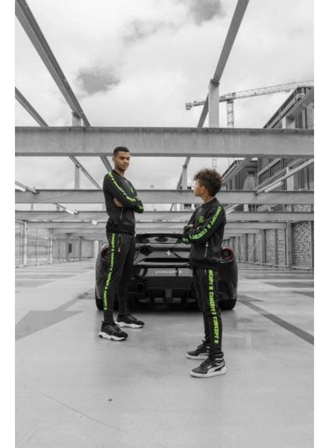 Concept R - Track Jacket Taped Black Fluor