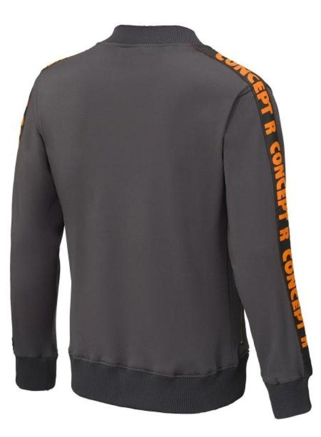 Concept R - Track Jacket Taped Grey Orange