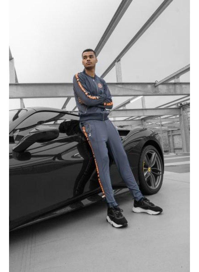 Concept R - Track Pants Taped Grey Orange
