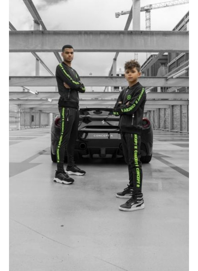 Concept R - KIDS Track Jacket Taped Black Fluor