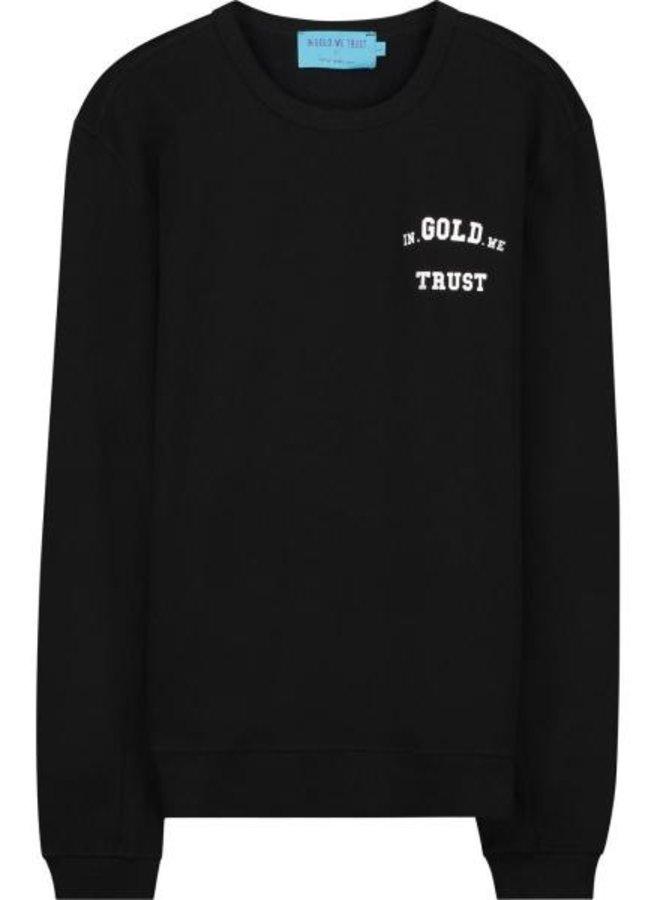 In Gold We Trust - KIDS Basic Sweater Black