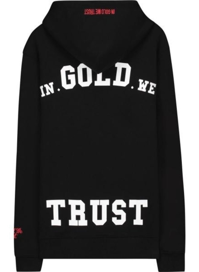 In Gold We Trust KIDS Basic Hoodie Black Concept R