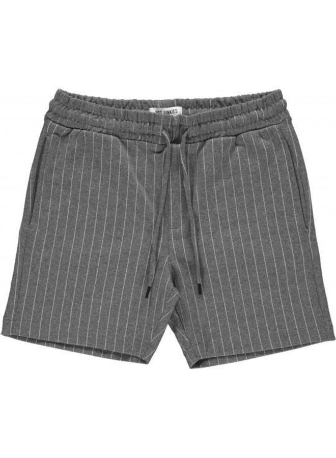 Just Junkies - Main Tux Stripe Short Grey White