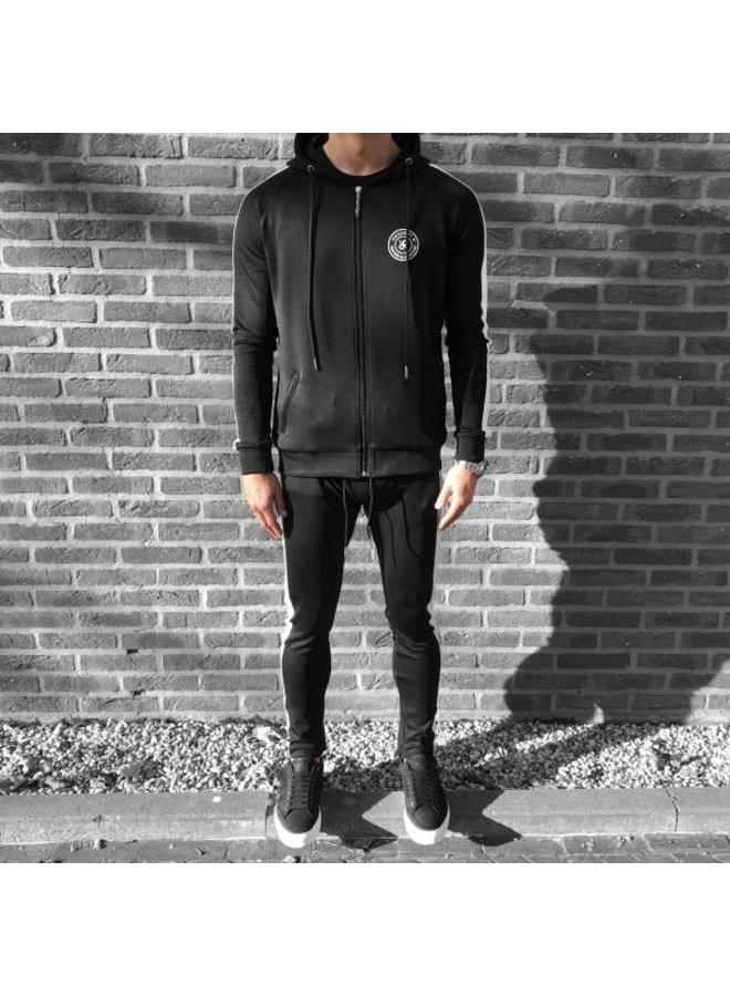 Concept R - Logo Track Suit Black White
