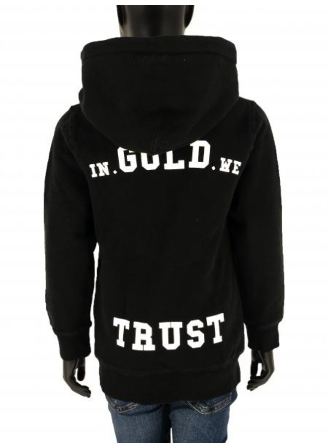 In Gold We Trust KIDS - Basic Hoodie Washed Black