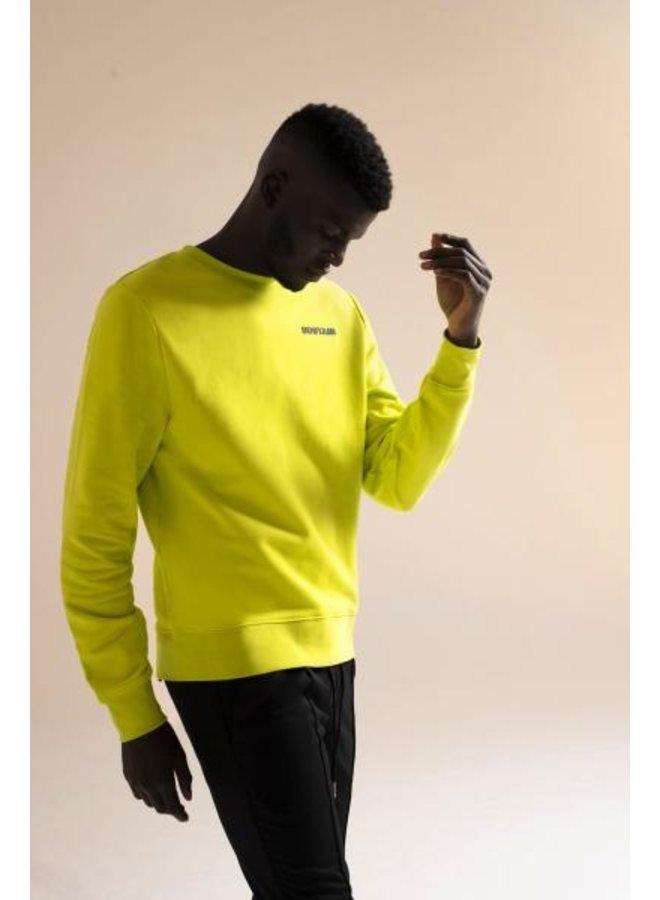 Sustain - Logo Regular Sweater Lime