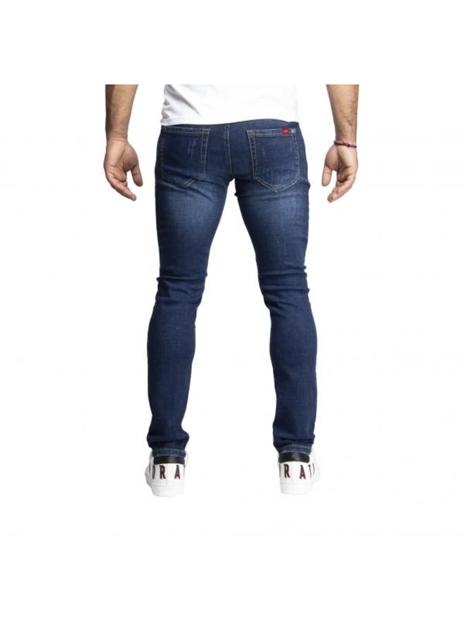 Leyon - Navy White Spotted Jeans