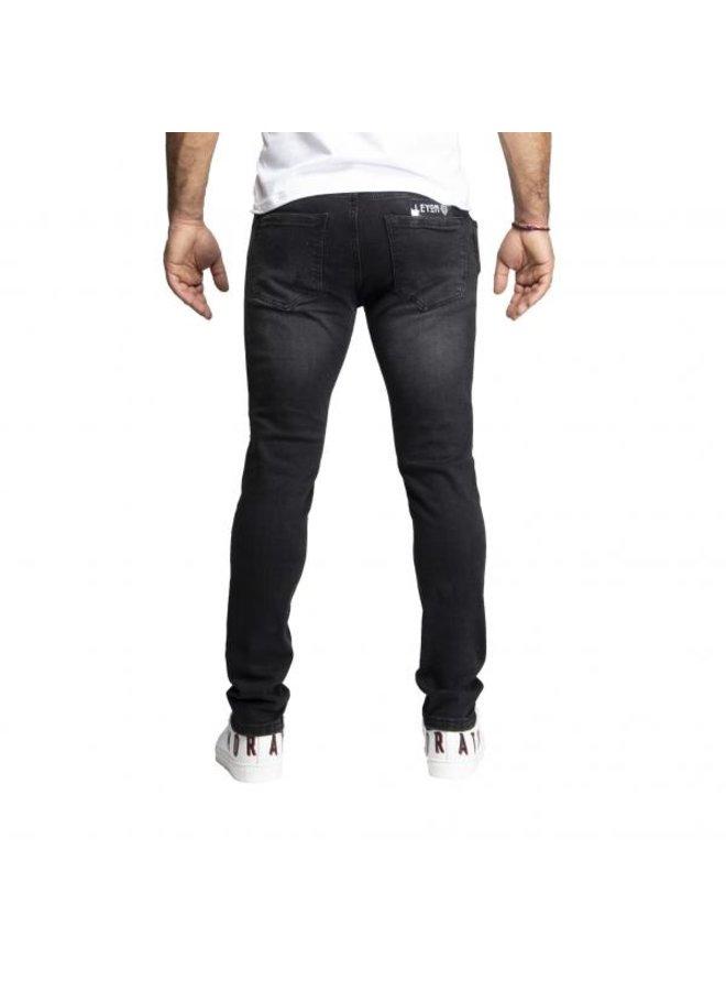 Leyon - Black White Spotted Jeans