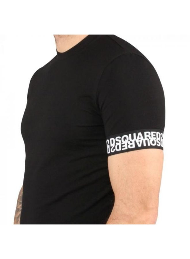 Dsquared 2 - Round Neck Band T-Shirt Black