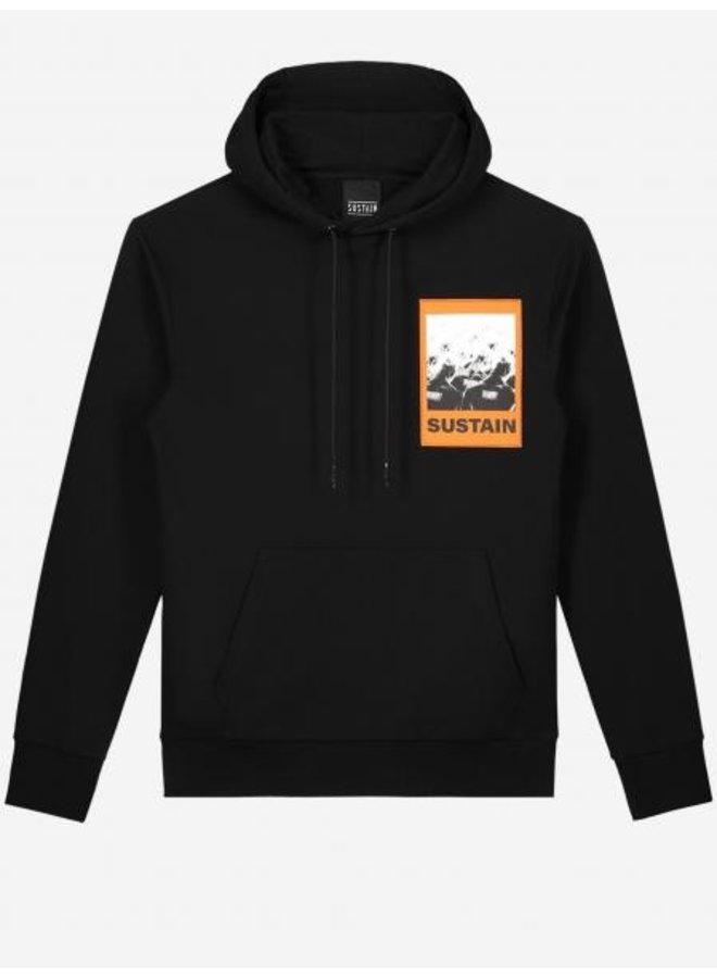 Sustain - Scribble Oversized Hoodie Black