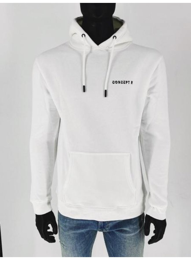 Concept R - Logo Damaged Hoodie White