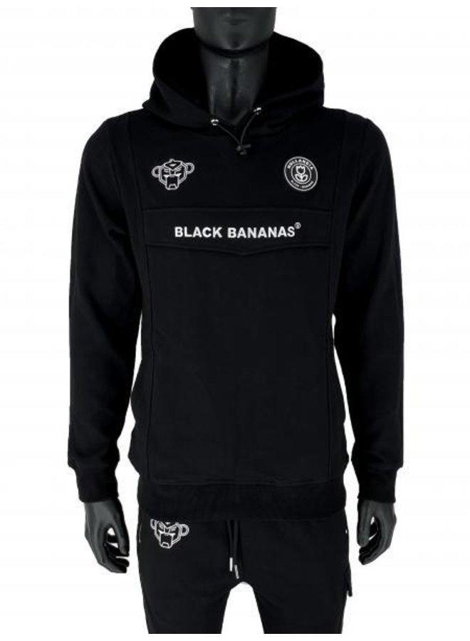 Black Bananas - Anorak Hoodie Black