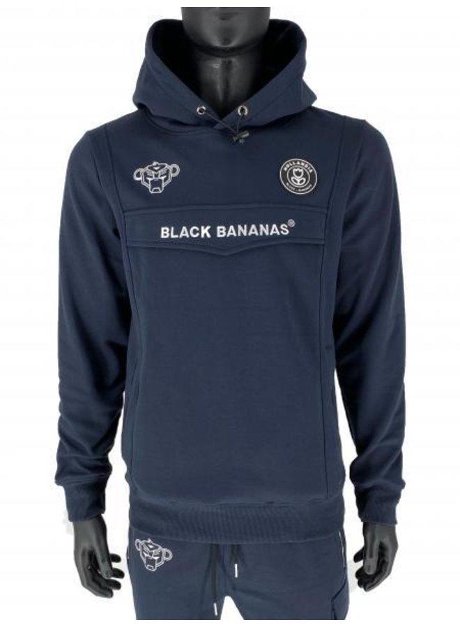 Black Bananas - Anorak Hoodie Navy Blue
